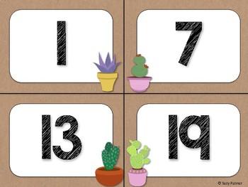 Cactus Theme Classroom Decor: Numbers 1-100