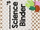 Cactus Theme Classroom Decor: Student Binder Covers
