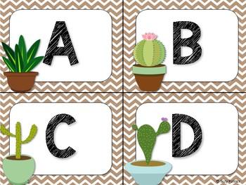 Cactus Theme Classroom Decor: Table Signs