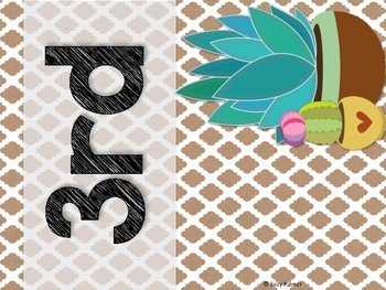Cactus Theme Classroom Decor: Teacher Binder Covers