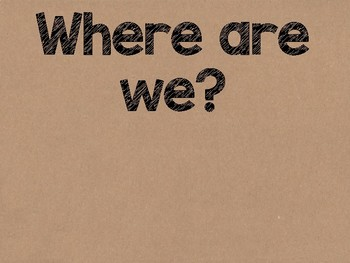 Cactus Theme Classroom Decor: Where Are We? Sign