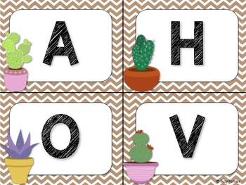 Cactus Theme Classroom Decor: Word Wall Headers