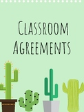 Cactus Theme Classroom Rules/Agreements