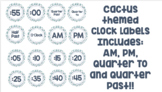 Cactus Theme Clock Labels