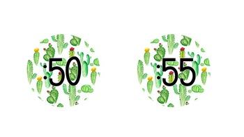 Cactus Theme Clock Numbers #ausbts18