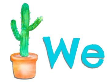 Cactus Theme Growth Mindset
