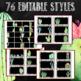 Cactus Classroom Decor Teacher Toolbox Editable Labels