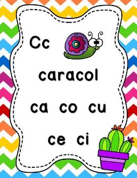 "Cactus Theme ""Las Sílabas"" Posters"
