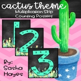 Cactus Theme Multiplication Skip Counting Posters