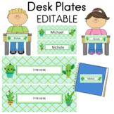 Name Plates  Desk Plates  Editable