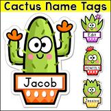 Cactus Theme Name Tags - Editable Succulent Classroom Decor