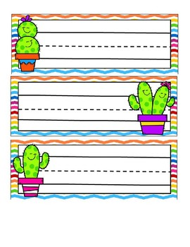 Cactus Theme Nameplates Freebie