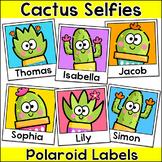 Cactus Theme Polaroid Name Tags Labels - Succulent Classroom Decor
