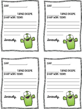 Positive Notes Cactus Theme