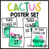 Cactus Theme Poster Set