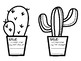 Cactus Theme Red Ribbon Door Decor (3 options)