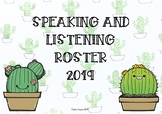 Cactus Theme: Speaking and Listening class roster posters