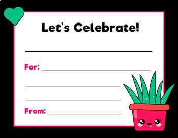 Student Certificates (Editable text):  Cactus Theme