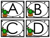 Cactus Theme Word Wall Letters