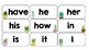 Cactus Theme Word Wall Words