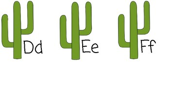 Cactus Theme Word or ABC Wall