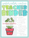 Cactus-Themed Teacher Binder 2020-2021 (Lesson plans, calendars, forms, & more!)