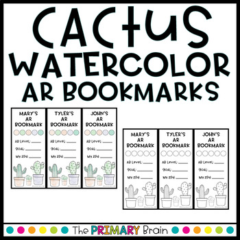 Cactus Themed Accelerated Reader EDITABLE Classroom Bookmarks