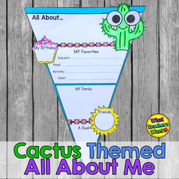 Cactus Themed All About ME