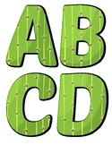 Cactus Themed Alphabet Letters - Decor