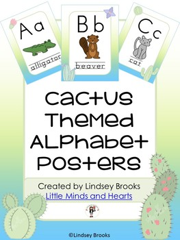 Cactus Themed Alphabet Posters