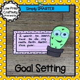 Cactus Themed Back To School Setting Goals Writing Cut and