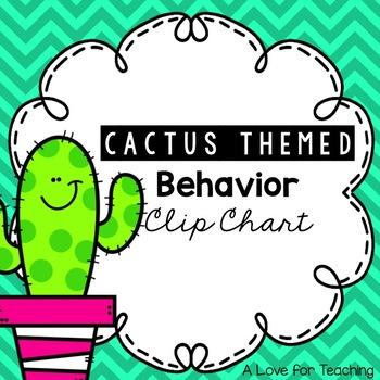 Cactus Themed Behavior Chart