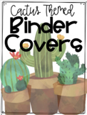 Cactus Themed Binder and Spine Covers