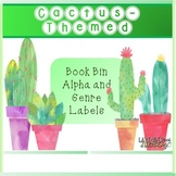 Cactus-Themed Book Bin Labels