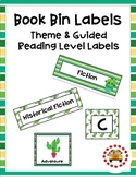 Book Bin Labels (Theme & Guided Reading) - Cactus Themed