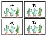 Cactus Themed Book Box Labels