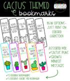 Cactus Themed Bookmarks - Cactus Puns & Growth Mindset