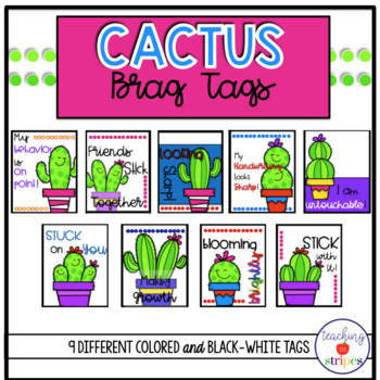 Cactus Themed Brag Tags- Classroom Management Tool