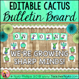 Cactus Themed Bulletin Board Kit - Editable
