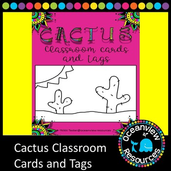 Cactus Themed Cards and Notes