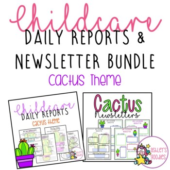 Cactus themed childcare daily reports with matching newsletters cactus themed childcare daily reports with matching newsletters daycare altavistaventures Gallery
