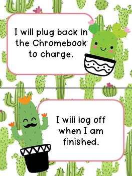Chromebook Rules - Cactus Themed