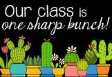 Cactus Themed Class Door Poster 2