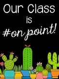 Cactus Themed Class Door Poster A3