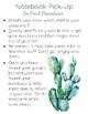 Cactus Themed Class Procedure Reminders-- Editable