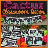 Cactus Classroom Decor Theme Bundle