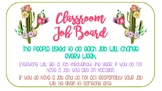 Cactus Themed Classroom Job Boards *COLOR and Black and White Included*