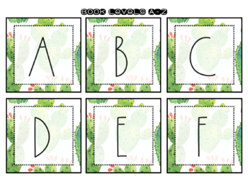 Cactus Themed Classroom Labels