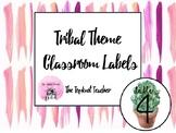 Editable Cactus Themed Classroom Organization Labels