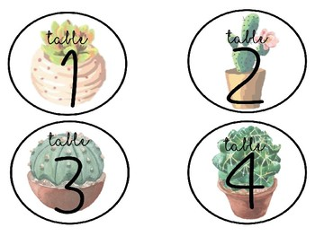 Editable Cactus Themed Classroom Organization Labels